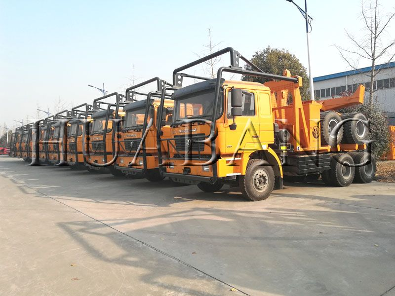 China made logging truck | log hauling truck trailer | log hauling timber truck trailer | pulpwood log truck with bunks